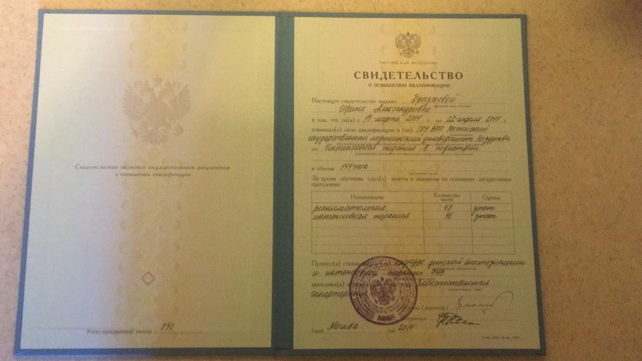 Брызжнева И.А. - Сертификат №3